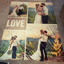 Customized Flannel Blanket Plush Personalized Blankets For Girlfriend And Wife