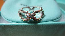 NEW Tiffany & Co. Signature Rectangle Band Link Ring Size 10 Sterling Silver 925