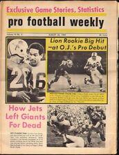 Pro Football Weekly August 28, 1969 Altie Taylor Lem Barney Lions OJ Simpson