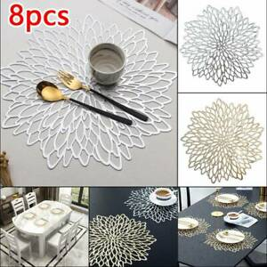 8 6 4 Placemats Washable Dining Wedding Birthday Charger Kitchen Table Place Mat
