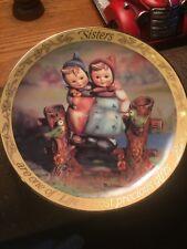 Mi Hummel 8� Sisters decorative collctor plate from Danbury Mint-Retired