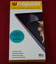Wrapsol UPHBB018-SO Ultra Screen Protector Film for Blackberry Torch 9850/9860