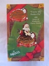 1995 Enesco Collector Club Ornament You're the Perfect Fit Santa Member NIB