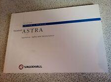 VAUXHALL ASTRA HANDBOOK / MANUAL : OCTOBER 1995 EDITION