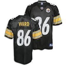 Pittsburgh Steelers Jersey Hines Ward #86 Reebok Big Kids Youth Black Home Small
