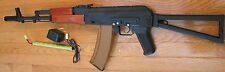 AK74S Full Metal Electric Airsoft Gun Foldable Steel Stock, Real Wood Handguard