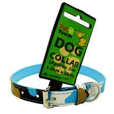 Camo Style Tarnung Hundehalsband Halsbänd Klein - Blau/Weiß