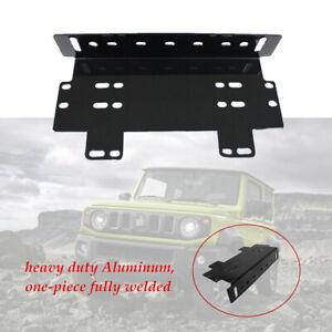 Car Front Bumper License Plate Mount Bracket Holder for LED Light Bar Metal