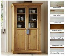 Vitrinen im Landhaus-Stil aus Kiefer fürs Wohnzimmer