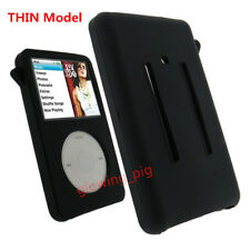 New Silicone Rubber Skin Soft Case Cover Black for iPod Classic 80GB/120GB/160GB