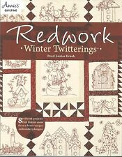 Redwork Winter Twitterings Quilt Quilting 12 Embroidery Designs Annie's Book NEW