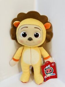 """OFFICIAL COCOMELON JJ LION 8"""" PLUSH DOLL SOFT BODY PLASTIC FACE NEW IN HAND"""