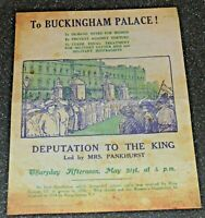 Suffragettes  To Buckingham Palace flyer