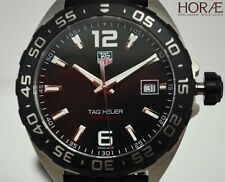 Tag Heuer Men's Formula 1 Quartz black dial rubber WAZ1110.FT8023 Titanium NEW
