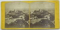 Antique Stereoview An 'Aerial' View Of Stirling from the Castle Circa 1890's