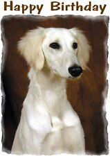 Saluki Dog Design A6 Textured Birthday Card BDSALUKI-4 by paws2print