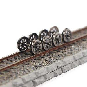 12pcs HO Scale 1:87 38'' Metal Spoked DC Wheels for Model Trains DC Wheel HP1487