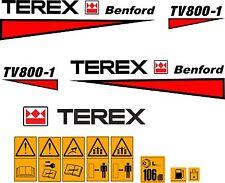 Terex Albert Benford Roller TV800 Decalcomanie Adesivi