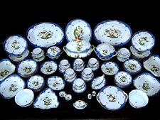 $42,795 Herend Hungary Rothschild Bird Blue Border HP Porcelain 95 pc Set for 12