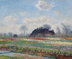 Tulip Fields at Sassenheim Claude Monet Home Decoration Print Canvas Small 8x10