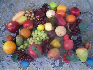 Artificial Faux Fruit & Vegetables Lot of 40+