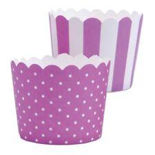MINI Muffinförmchen Cupcake Papier Cups violett weiß Muffin Städter 12 S