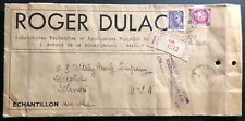 1939 Paris France Laboratories Advertising Cover To Decatur IL USA