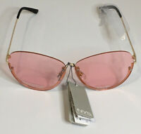 NYS COLLECTION SUNGLASSES STYLE 4400-88 Rose Gold Frame with Pink Lens