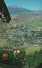 Snow King Chairlift Jackson Wyoming, Ski Area Jackson Hole, WY Aerial - Postcard