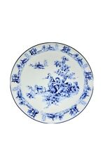 "Decorative Blue And White Colonial Themed Plate 8 1/4"" Across"