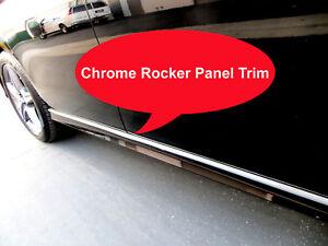 2002-2018 JEEP Chrome SIDE ROCKER PANEL Trim Molding Kit 2PC