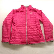 84b0b3b7d2 The North Face Filles Rose Mossbud Réversible Veste Pull Polaire Taille XL  (18)