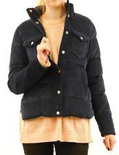 Women`s Penfield Suede Jacket size S Navy Long Sleeve Winter Collar BCF69
