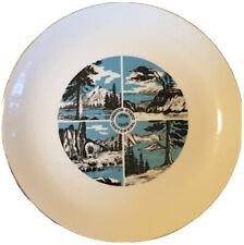 Oregon State Centennial Plate Mid Century Mod Design 1959 Valetta's Studio Or
