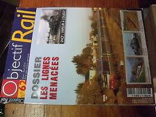 µ? revue Objectif rail n°62 Les Lignes menacées Serie 29 Mistral au Caraïbes...