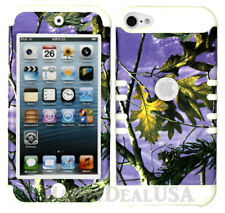 For Apple iPod Touch iTouch 5 | 6 - KoolKase Hybrid Cover Case Camo Mossy PURPLE