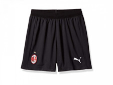 PUMA Kids' Boys AC Milan Soccer Training Shorts Replica 754443-04 Black White