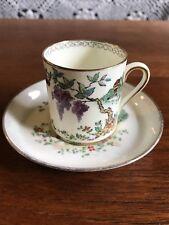Vintage Tuscan Fine English Bone China Demitasse Cup and Saucer Duo