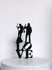 Wedding Cake Topper - Flowers, Beads and Love Hippie, Hippy Wedding