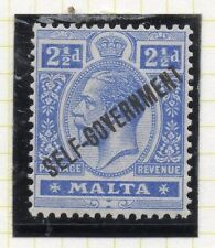 Malta 1922 Early Issue Fine Mint Hinged 2.5d. Optd 043784