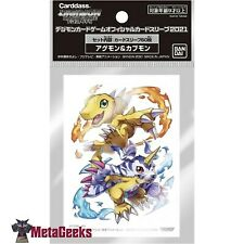 More details for digimon trading card game official standard card sleeves (60) - agumon & gabumon