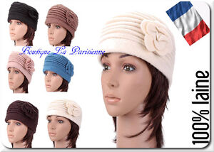 Cappello da Donna Berretto Paris Inverno di Lana 100% Vintage