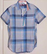 NEW Robert Graham X Men Blue Shirt NWT $178 S Small Short Sleeve Cotton Stretch