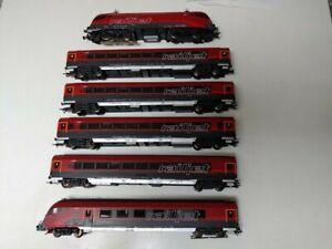 Piko H0 Set Railjet für Märklin, E Lok, 4 Wagen und Steuerwagen kaum gefahren,