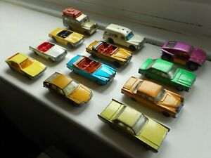 Matchbox 1-75 series early Superfast job lot x12 1960s/70s vintage toy cars
