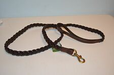 ORVIS Braided Leather Dog Leash Cognac Brown Brand New with Tags