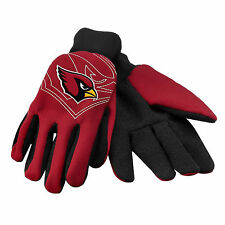 Arizona Cardinals 2-Tone Raised Team Logo Licensed NFL Sport Utility Gloves-New
