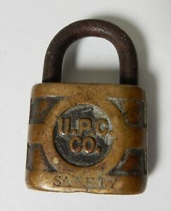 OLD U.P.C. Co YALE BRASS PADLOCK LOCK