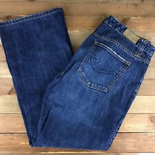TOMMY HILFIGER LOW RISE FLARE Women's Jeans Size 12 (34x30) Spell Out Low Rise
