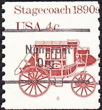 US - 1983 - 4 Cents Reddish Brown 1890's Stagecoach #1898Ab Plate #6 Single Fine